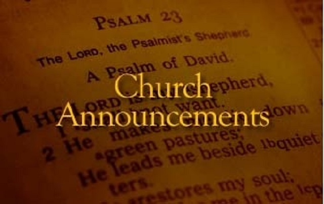Parish Announcements – 24th November