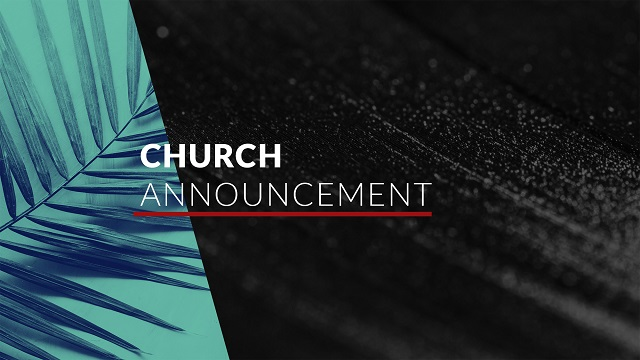 Parish Announcement – 12th January, 2020